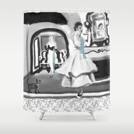 """cats meow"" Shower Curtain"