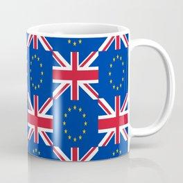 Mix of flag: UE and UK Coffee Mug