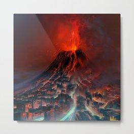 City of Fire Metal Print
