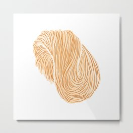 Watercolor Illustration of A bundle of raw noodles Metal Print