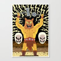 warrior Canvas Prints featuring WARRIOR  by Jack Teagle