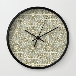 Ethnic ikat pattern. 3 Wall Clock