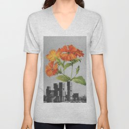 "255 - ""a tree grows in Brooklyn"" Unisex V-Neck"