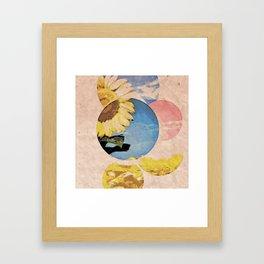 Peeping Sunflower Framed Art Print
