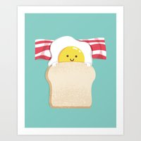 budi Art Prints featuring Morning Breakfast by Picomodi