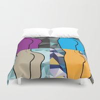 booty Duvet Covers featuring Booty-ful  by MischievousDesign