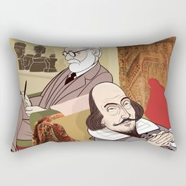 Freud analysing Shakespeare Rectangular Pillow