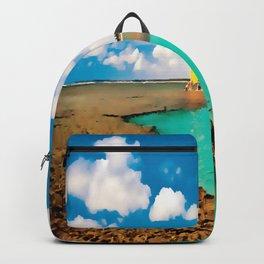 painting marine beaches of Brazil Backpack