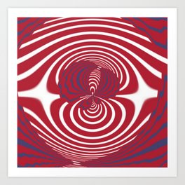 Ruby Balayage Ube` Swirl Abstract (1970's Vintage) Art Print