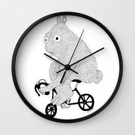 Bunny Bike Wall Clock
