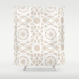 Palm Springs Macrame Lattice Lace Shower Curtain