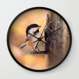 Chickadee dee dee Wall Clock