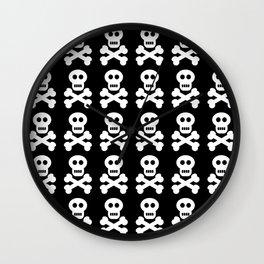 Skull and Cross Bones Wall Clock