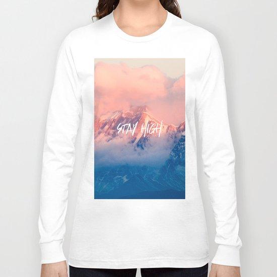 Stay rocky mountain high long sleeve t shirt by cascadia for Mountain long sleeve t shirts
