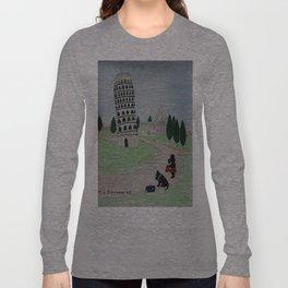Tower of Pisa - Scottish Terriers Long Sleeve T-shirt