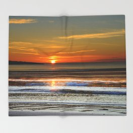 Silver and Gold Sunset Throw Blanket