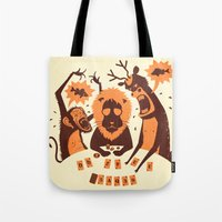 poker Tote Bags featuring Holdem Poker by Bakal Evgeny
