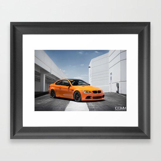 Orange BMW M3 Framed Art Print