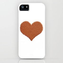 Coffee lover's Valentine heart iPhone Case