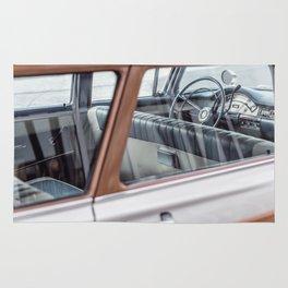 Vintage car brown 4 Rug