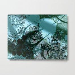 Fruitful Abstract Fractal Art Metal Print