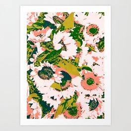 Sunny Garden #painting #nature Art Print