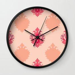 Shah-Abbasi Flower Pattern (Pink) Wall Clock