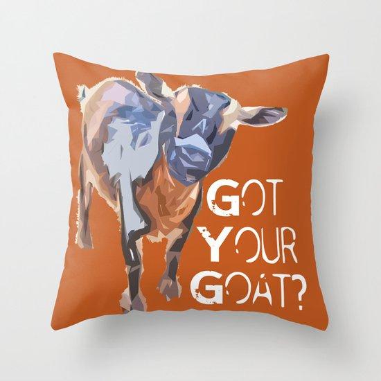 """Got Your Goat?"" ~ Nigerian Dwarf Goat Pop Art Photography!  Gotta Love the Goaty-Woaties! Throw Pillow"