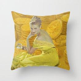 Payday Throw Pillow