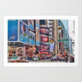 Broadway, NYC Art Print
