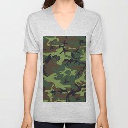 Camouflage - camo green Unisex V-Neck