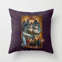 goonies Throw Pillows featuring Goonies Never Say Die by Taylor Rose