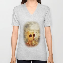Gas Mask  Unisex V-Neck