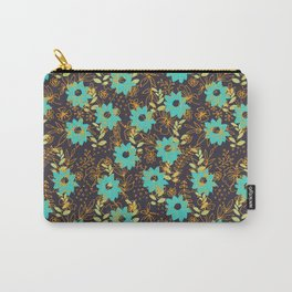 Blue flowers pattern Carry-All Pouch