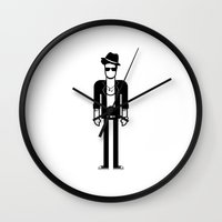 bruno mars Wall Clocks featuring Bruno Mars by Band Land