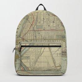 Vintage Map of Niagara Falls NY (1893) Backpack