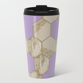 Hexagon flower and leaf in lilac Travel Mug