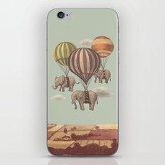 Flight of the Elephants - mint option iPhone Skin