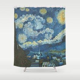 Swirly Night Shower Curtain