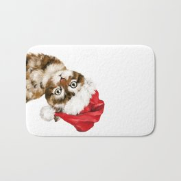 Christmas Baby Cat Bath Mat