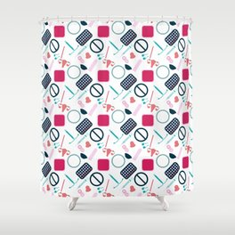 Contraception Pattern Shower Curtain