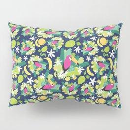 Toucans Everywhere - Blue Pillow Sham