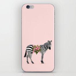 FLORAL ZEBRA iPhone Skin