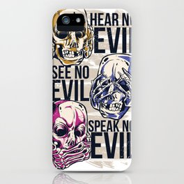 Hear No Evil Art iPhone Case