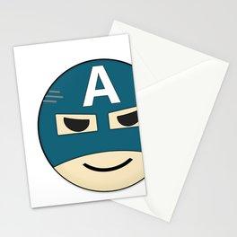 Captian A Emoji Stationery Cards
