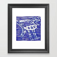 funny monster arghhh Framed Art Print