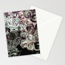 metal waves Stationery Cards
