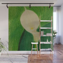 Cala Lily On Abstract Background Wall Mural