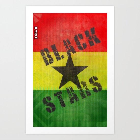 Ghana Black Stars Art Print