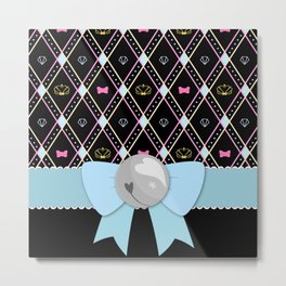 Ribbon Bell Metal Print